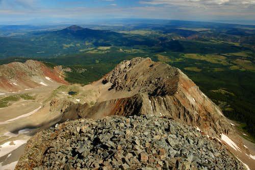 Wilson Peak: looking down along the Northwest Ridge