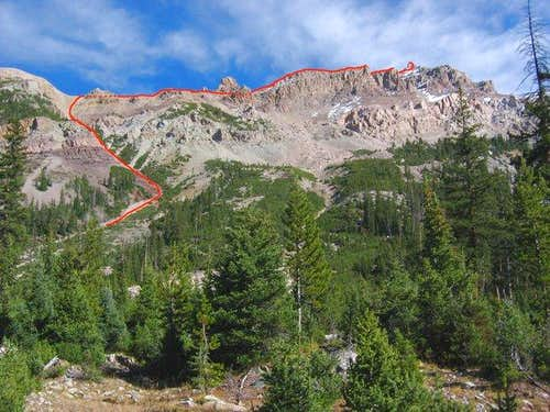 The west face of Mount Beulah...