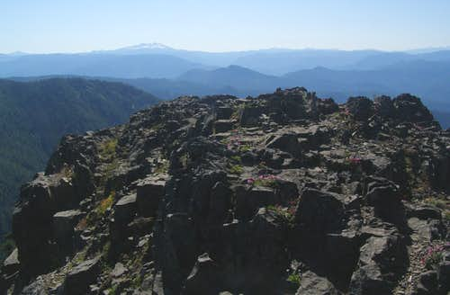 Summit area and Diamond Peak