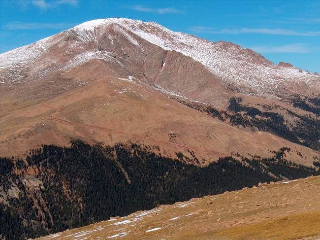 The summit of Pikes Peak from...