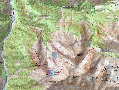 Mt. Garfield topo map