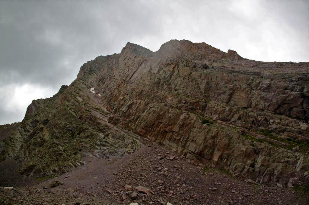 Northeast Face on Arrow Peak
