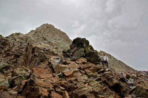 Descent from Vestal Peak
