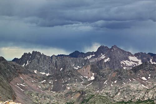Storm over Needle Mountains