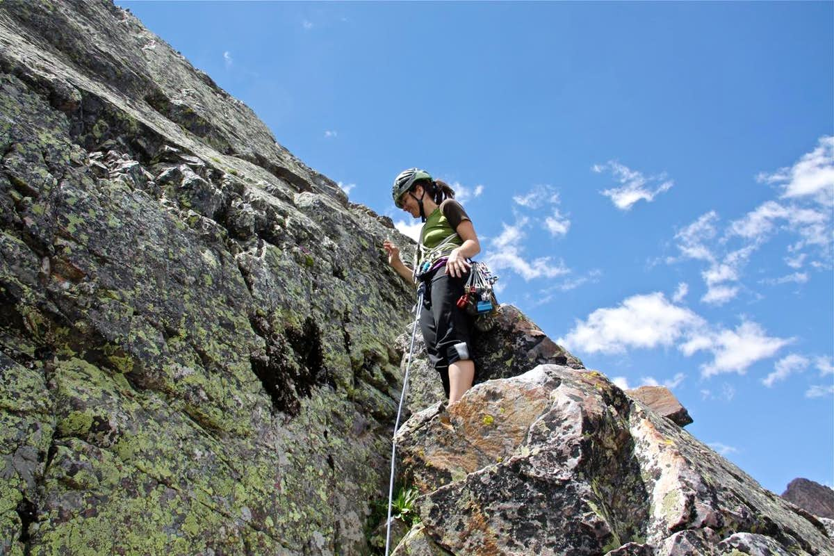 5.fun climb on Vestal Peak