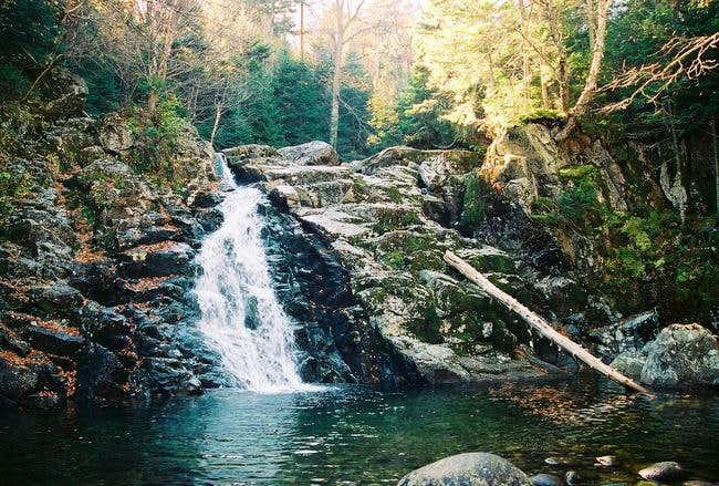 Bushnell Falls along the...