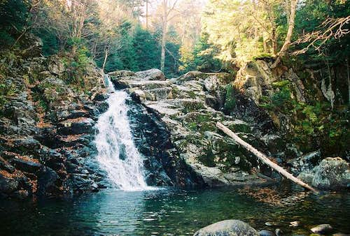 Bushnell Falls along the...