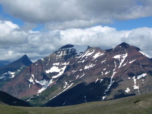 Flinsch Peak and Rising Wolf Mountain