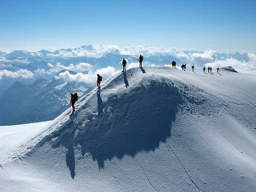 Grossvenediger summit ridge