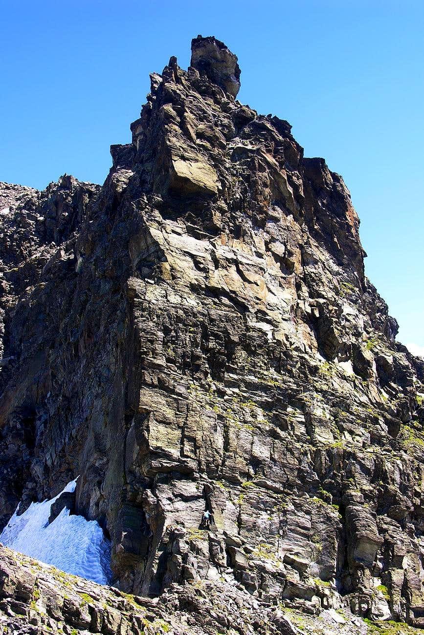 Climbing on Antesummit W-NW of La Louie Blanche