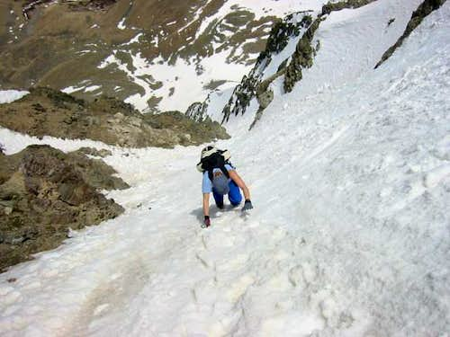 Ascending Dead Dog Couloir,...