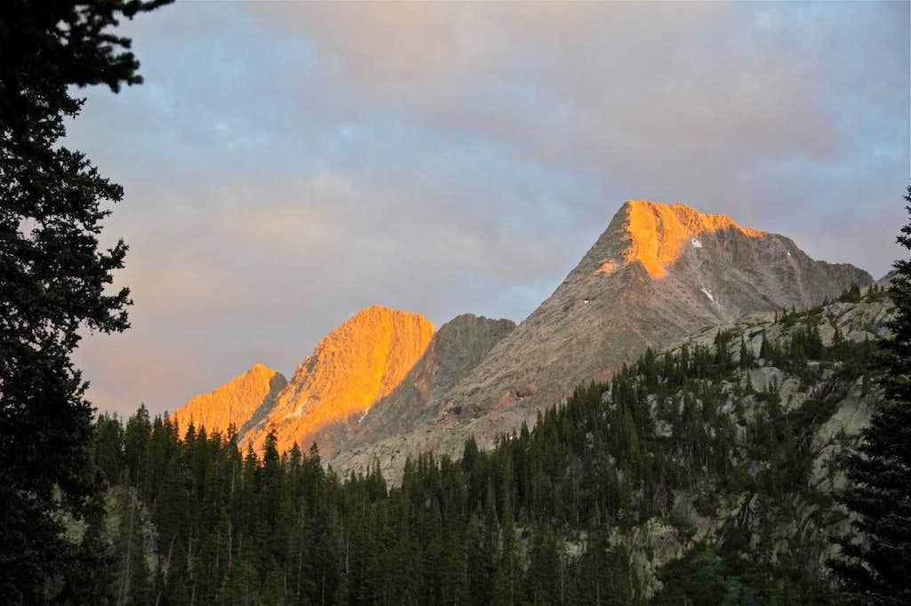 Sunset over Trinity Peaks