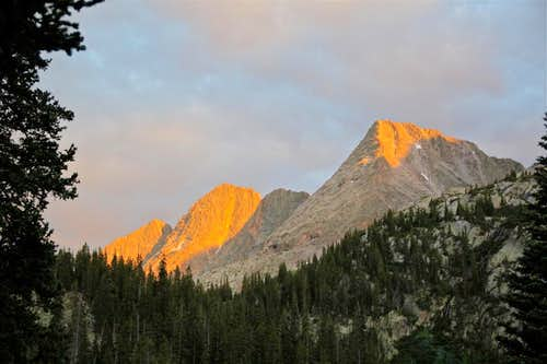 Sunset over Trinity Peaks
