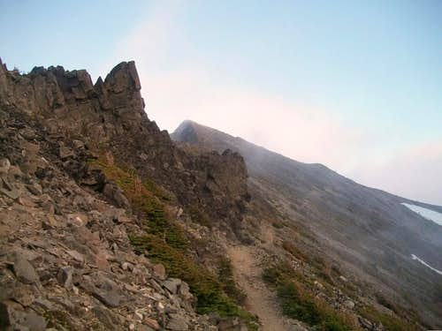 The Middle Summit from the trail