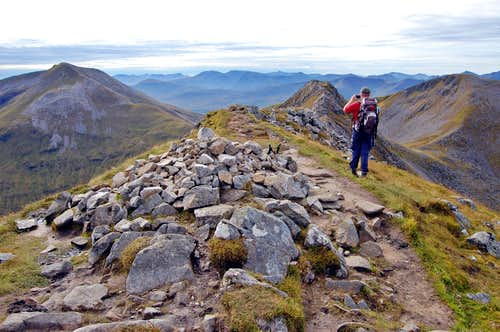 Mamore range - summit of An Gearanach