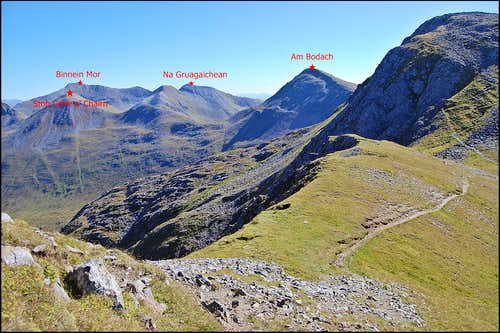 Mamore range - looking to the eastern summits