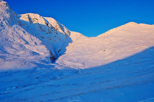 Mamore range - Am Bodach in winter