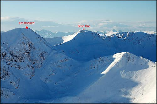 Mamore range - western Mamores in winter