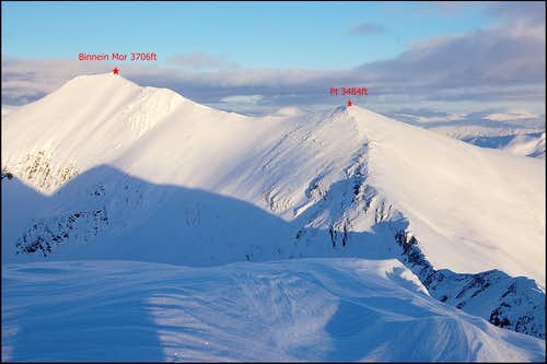 Mamore range - eastern summits in winter