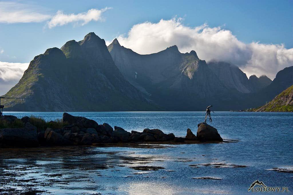 Kjerkfjorden on Lofoten Islands