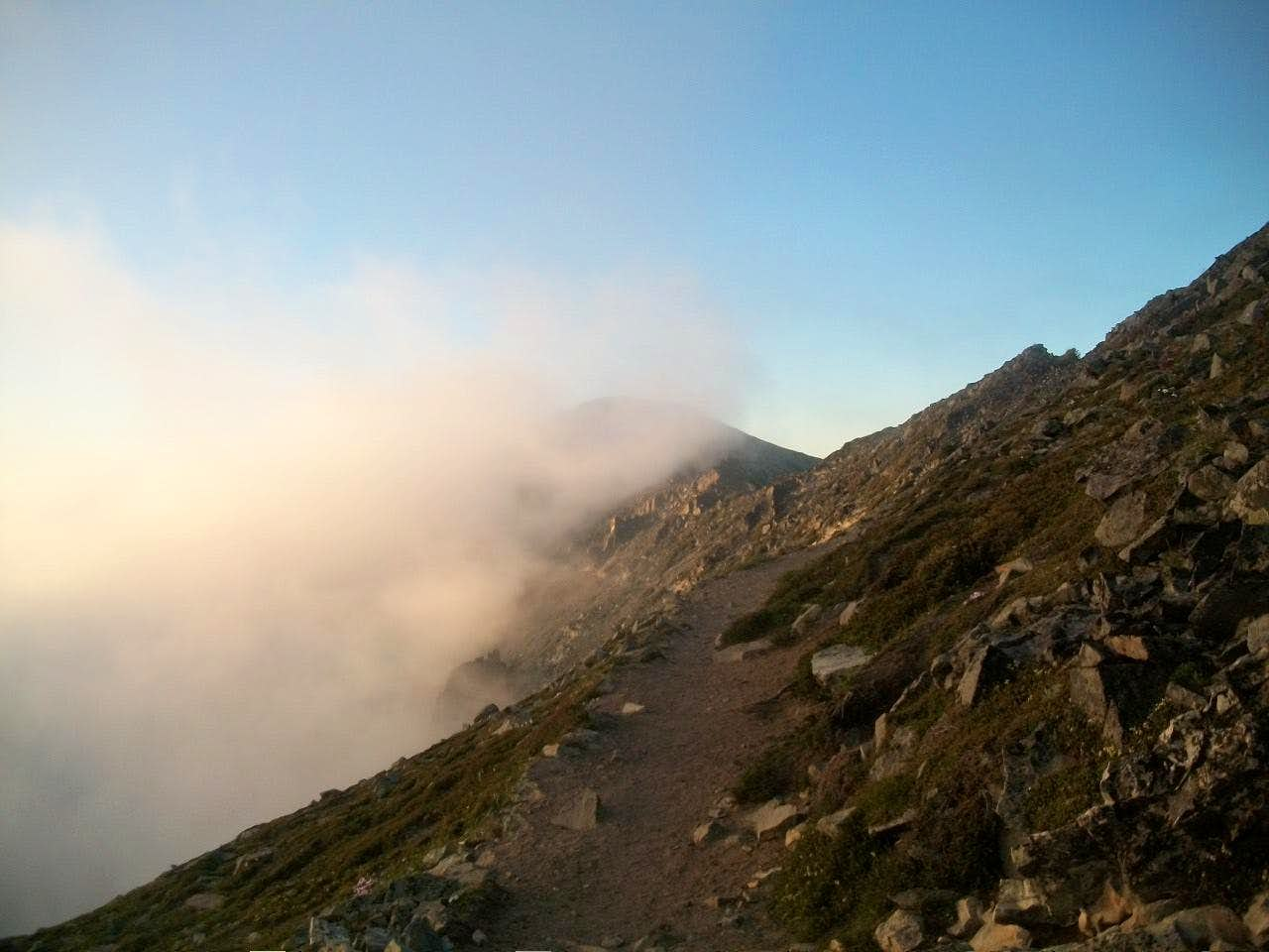 Climbing the Three Fremont Summits in Fog