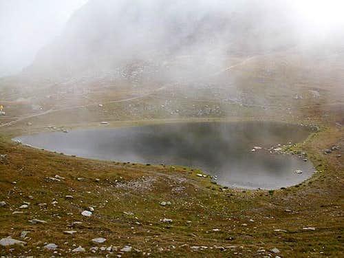 The heart shaped lake at...