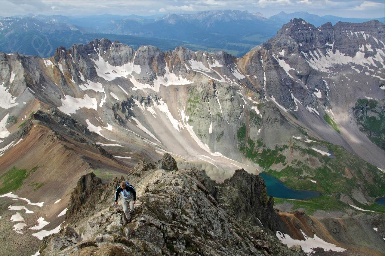 The Southwest Ridge on Mount Sneffels
