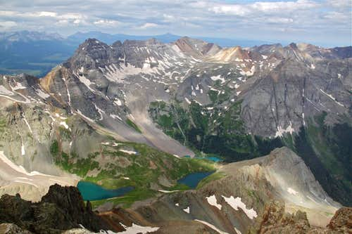 Blue Lakes as seen from the summit