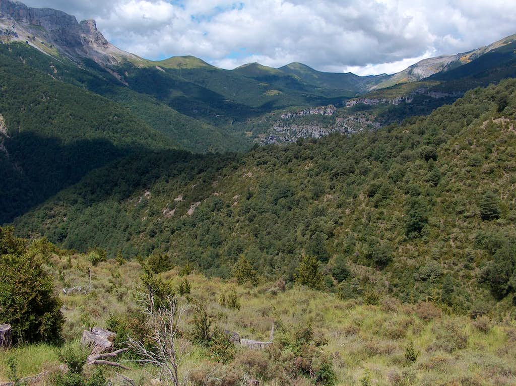Escuain valley from the Lamiana restaurant