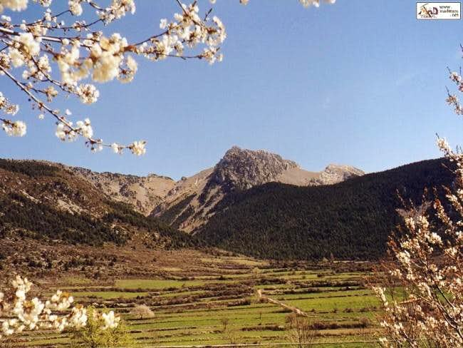Pedraforca viewed from Gosol....