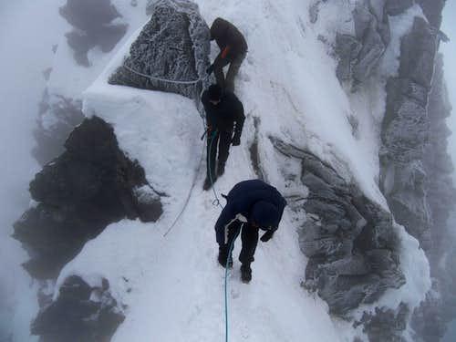Climbing on the Glocknerscharte