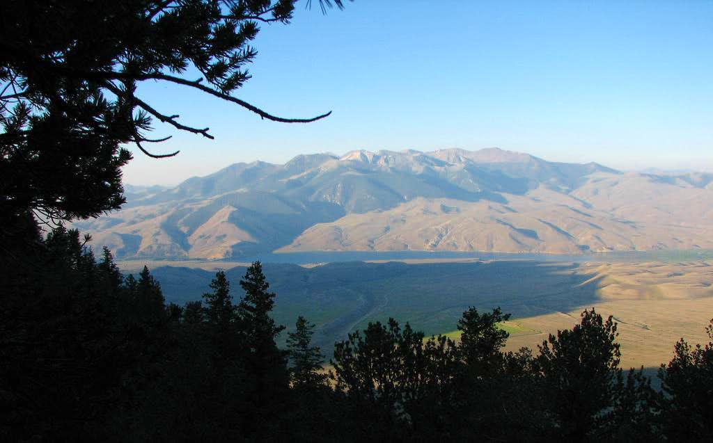 Mackay Peak from Lost River Peak