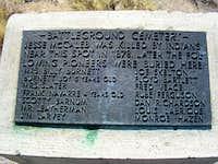 Mr. Leatherman's grave