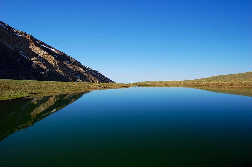 High mountain lake on Hyndman