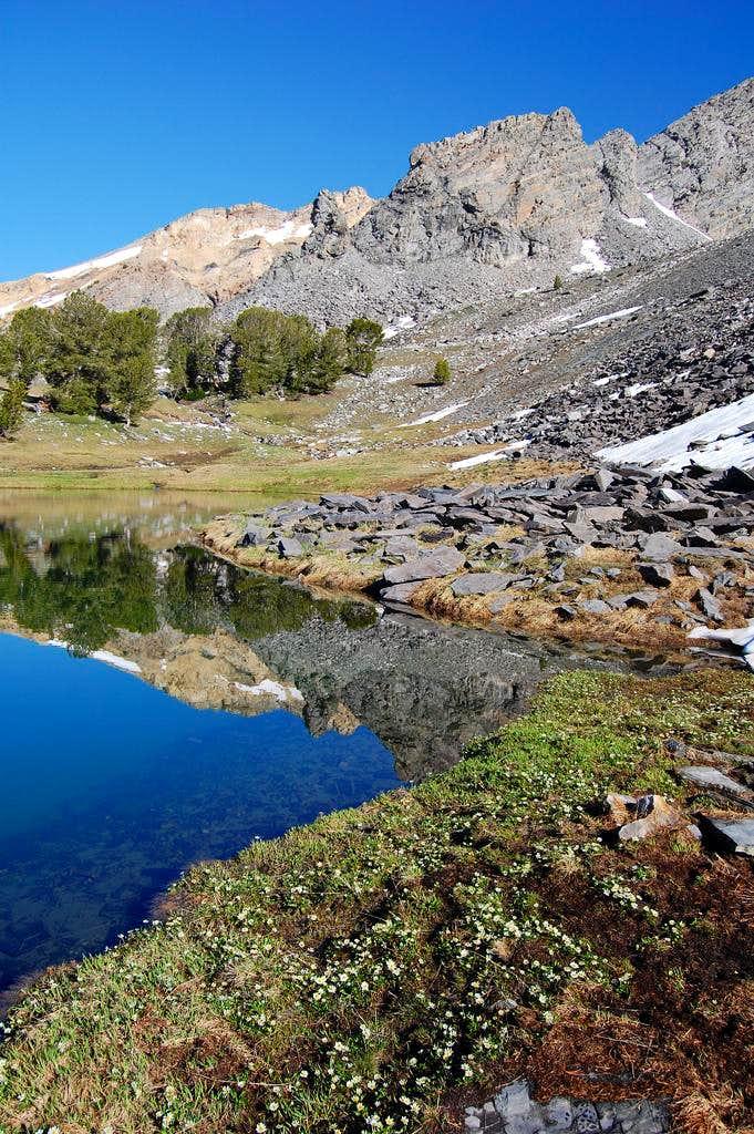 Second high mountain lake on Hyndman
