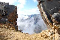 Hole in the rocks on Diamond Peak