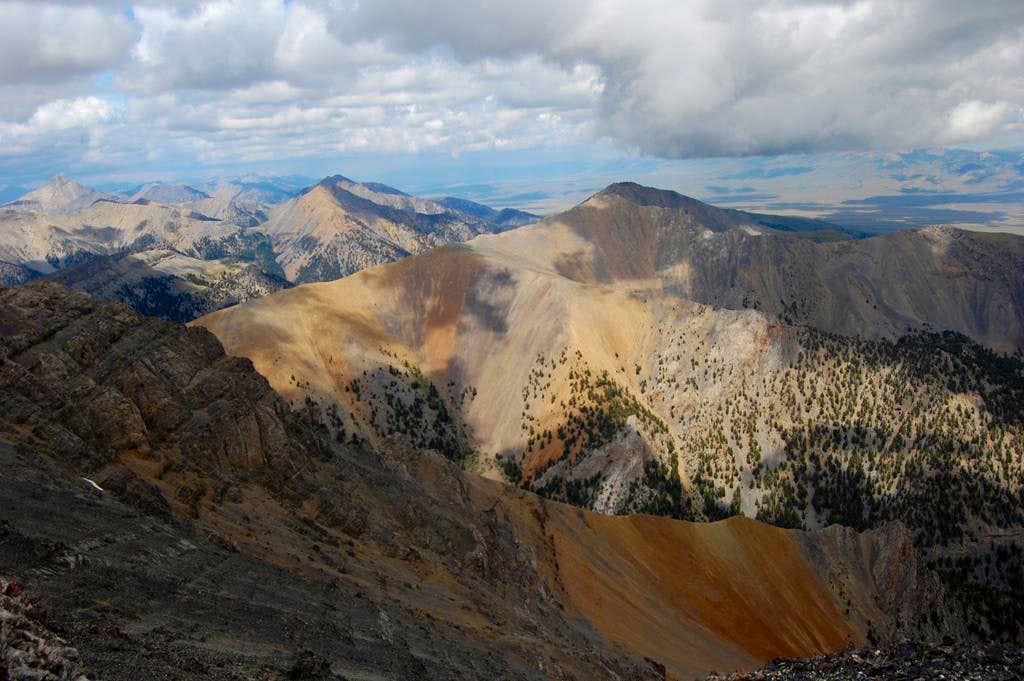 Across the valley from Diamond Peak