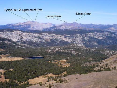 Red Lake Peak looking NW to...