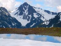 Snowmelt pool and Wellesley Peak
