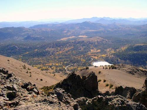 Red Lake Peak\'s namesake, Red...