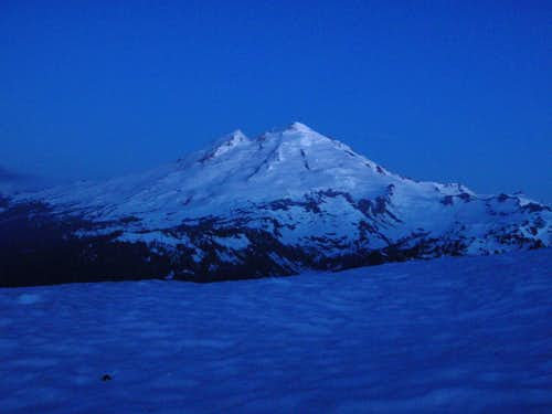 Mount Baker At Night