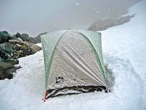 Snowing on the Tent