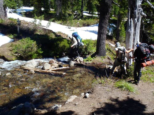 Crossing Creek Near Snowgrass Flat
