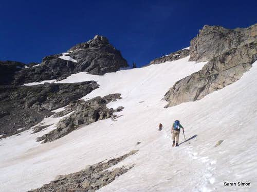 Angling toward the Navajo Snow Field