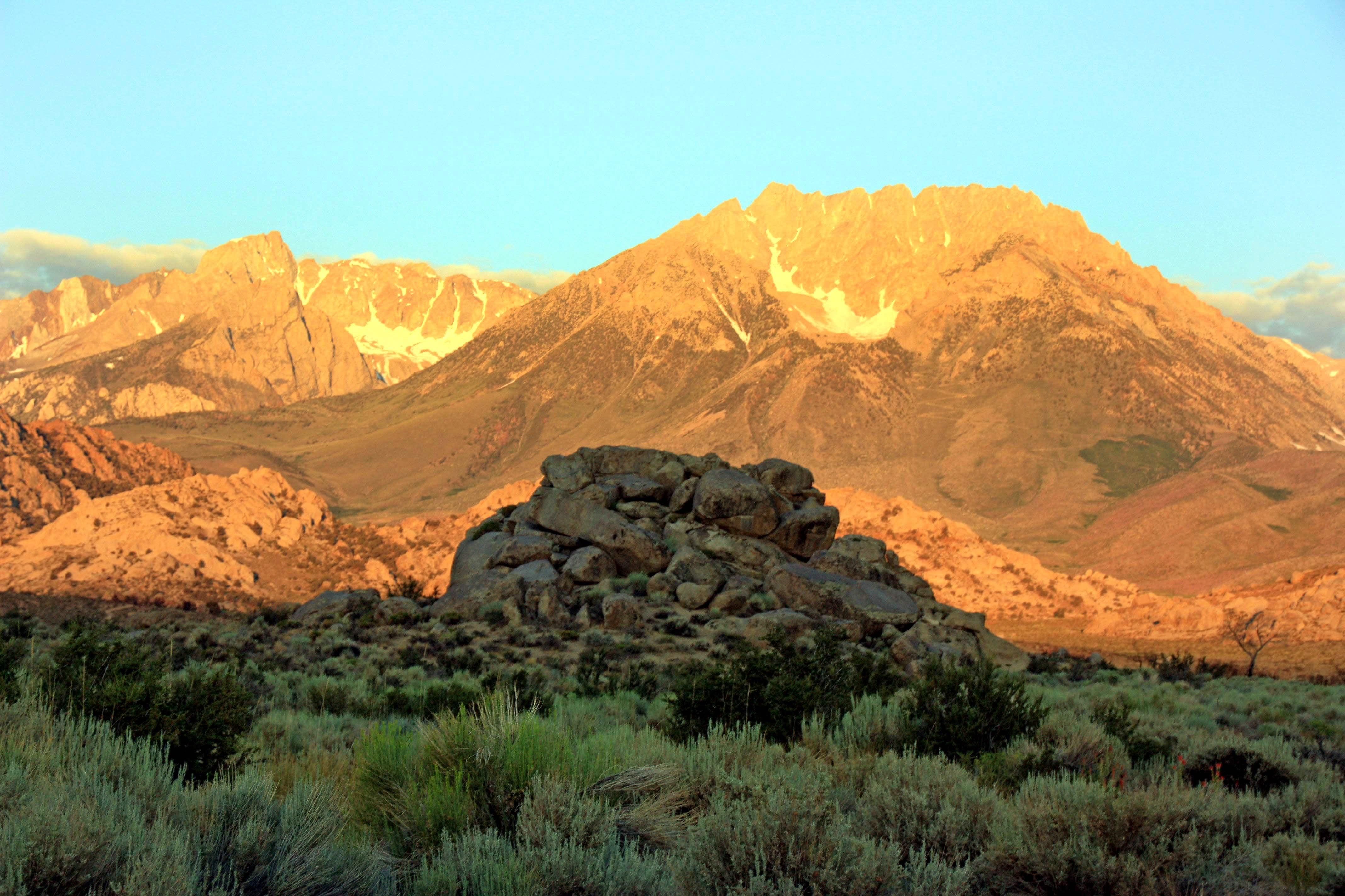 Eastern Sierra with Weather