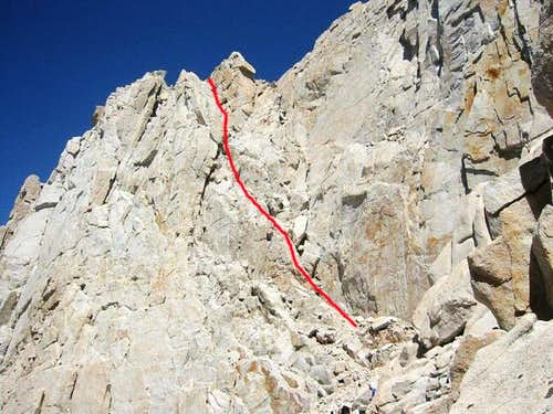 South Face Right Side Route
