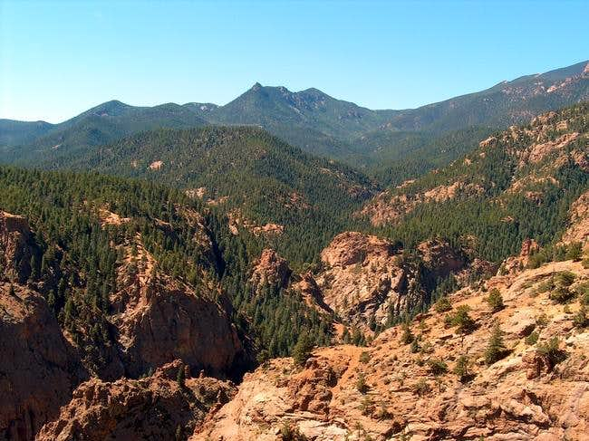Red Pikes Peak granite from...