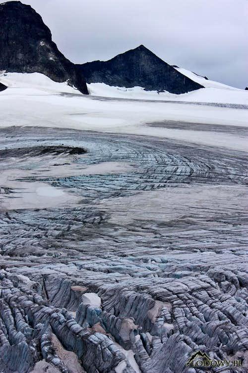 Above the glaciers