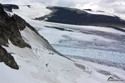 Styggebreen glacier