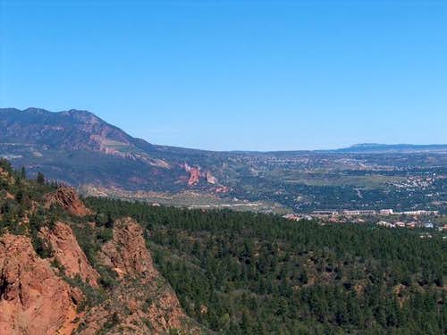 Garden of the Gods from the...